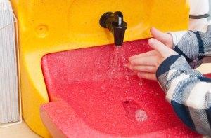 Handwashing for children on farm visits