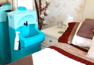 WashStand mobile hand washing sinks for care homes