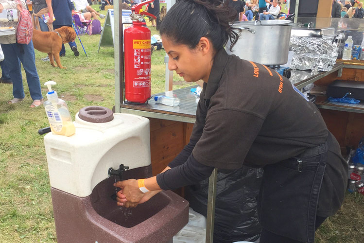 Hand hygiene is vital for mobile caterers