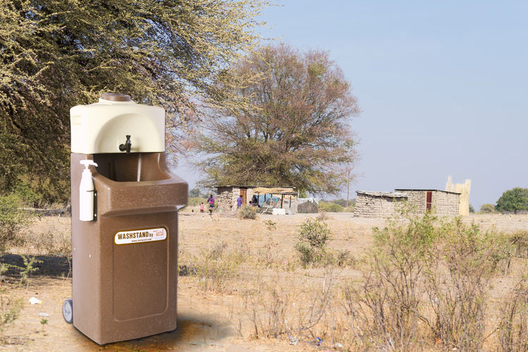 WashStand for hand washing in remote areas of Africa