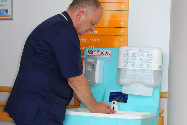 MediWash mobile hand washing units for hospitals
