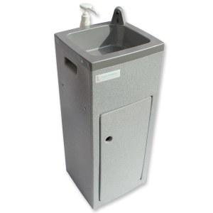 Teal Super Stallette hand wash unit in grey