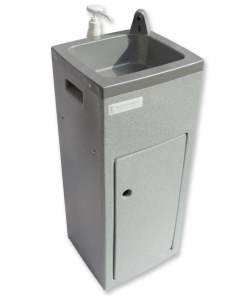 Teal Super Stallette hand wash unit in grey