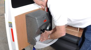 Hand washing sinks for engineers in vans and trucks