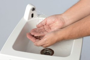 Mobile hand wash units in the workplace