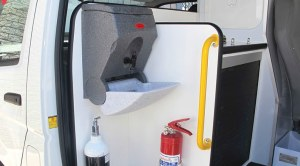TealWash portable hand wash unit for vehicles