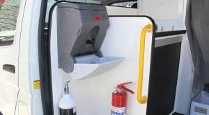 TealWash portable hand wash unit for vehicles