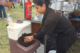 Hand washing for street food suppliers by Teal