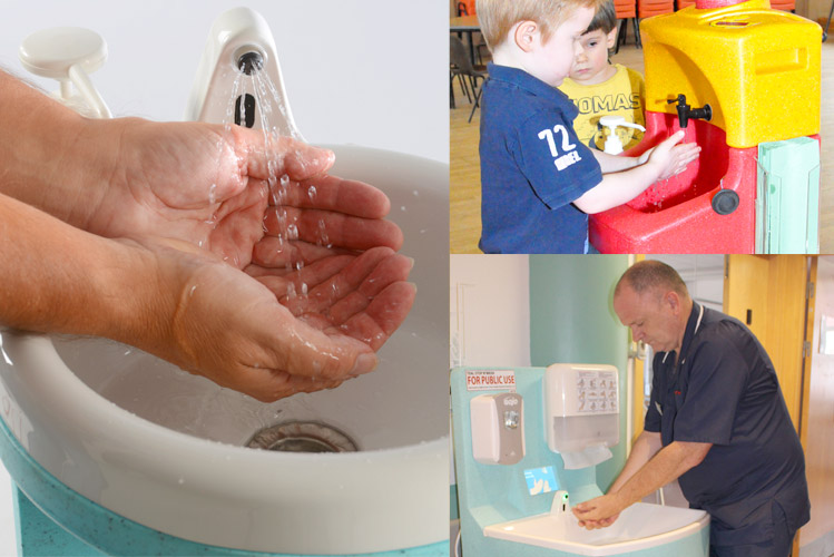 Portable sinks for Occupational Health situations