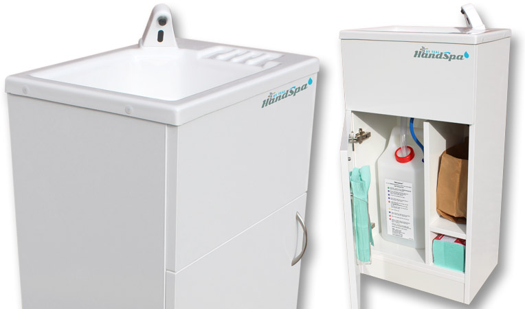 The Teal HandSpa portable sink will be available soon