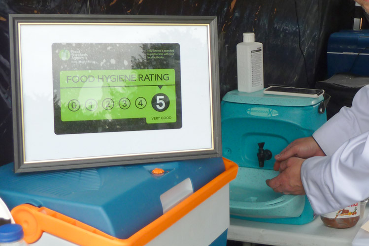 The importance of hand washing for mobile caterers