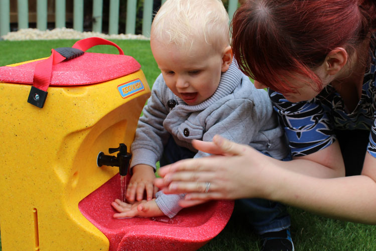 The importance of teaching children how to wash their hands
