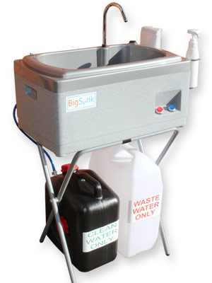 BigSynk portable hand arm and dish wash unit for caterers