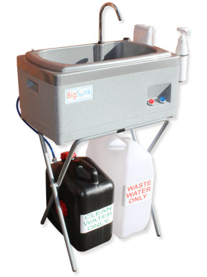 BigSynk portable handwash station for medical facilities