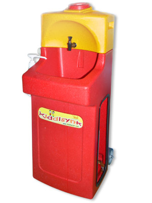KiddiSynk portable childs handwash unit in red