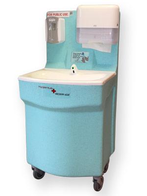 Teal MediWash portable handwash station for medical units