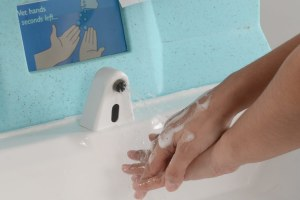 Washing hands to help prevent the spread of coronavirus