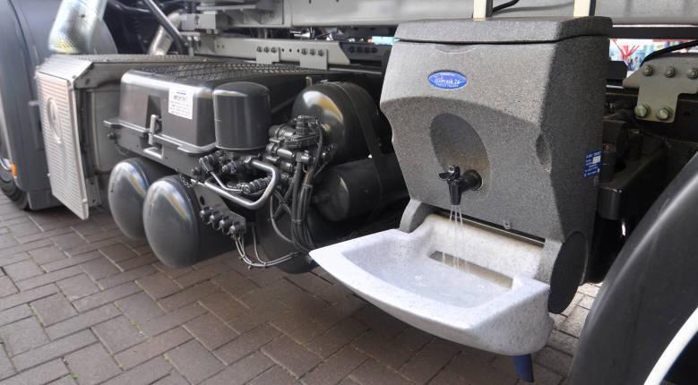 TealWash hand wash unit for motor vehicles