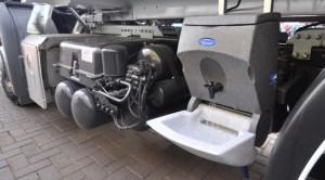 TealWash poratble handwash unit for lorry drivers