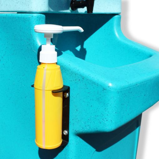 Soap bottle on a WashStand portable hand wash unit