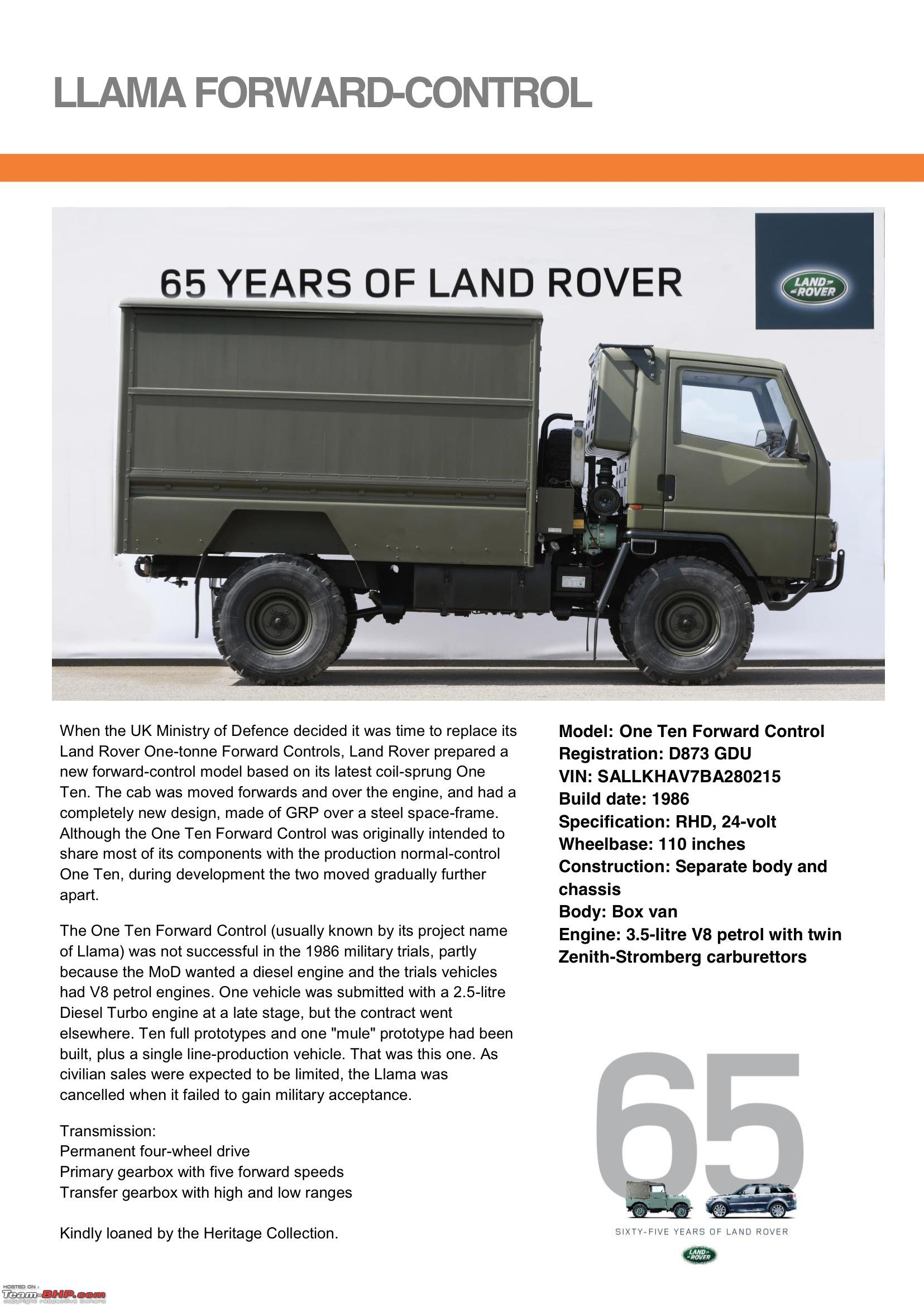 Land Rover FC two tonne truck prototype