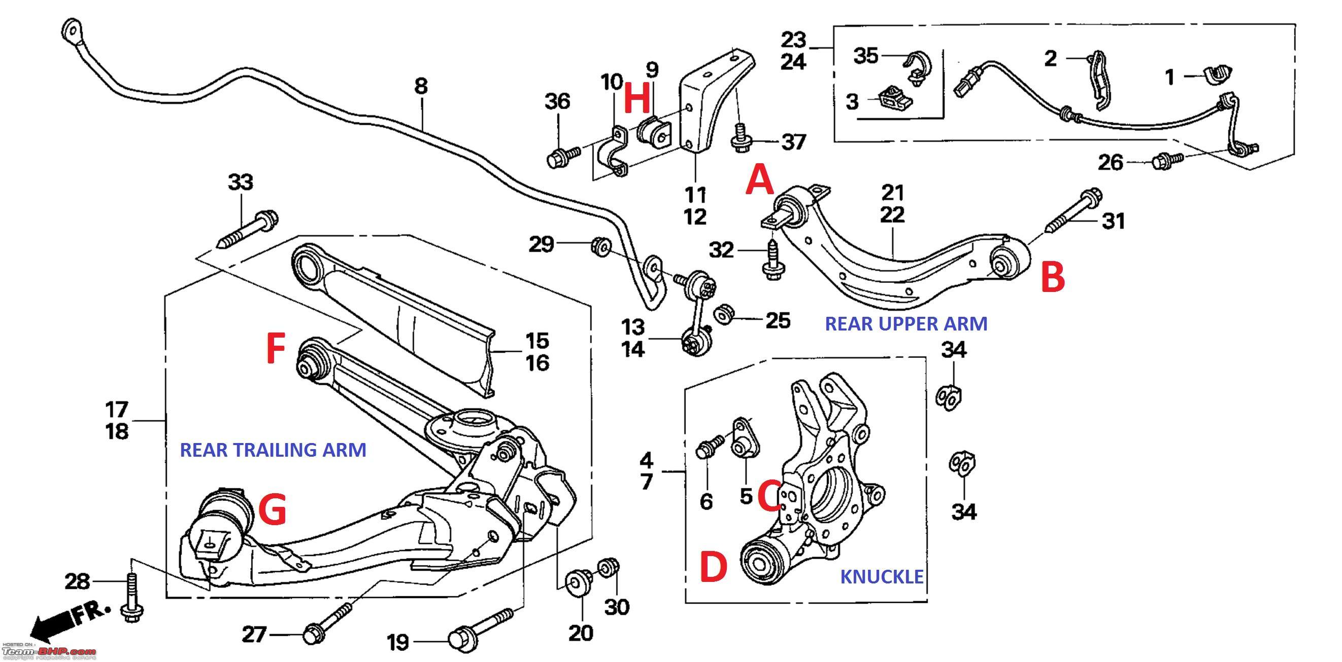 Honda Civic Rear Suspension Diagram