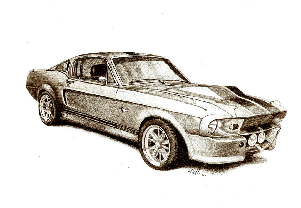 The Gallery For Gt Old Muscle Cars Drawings