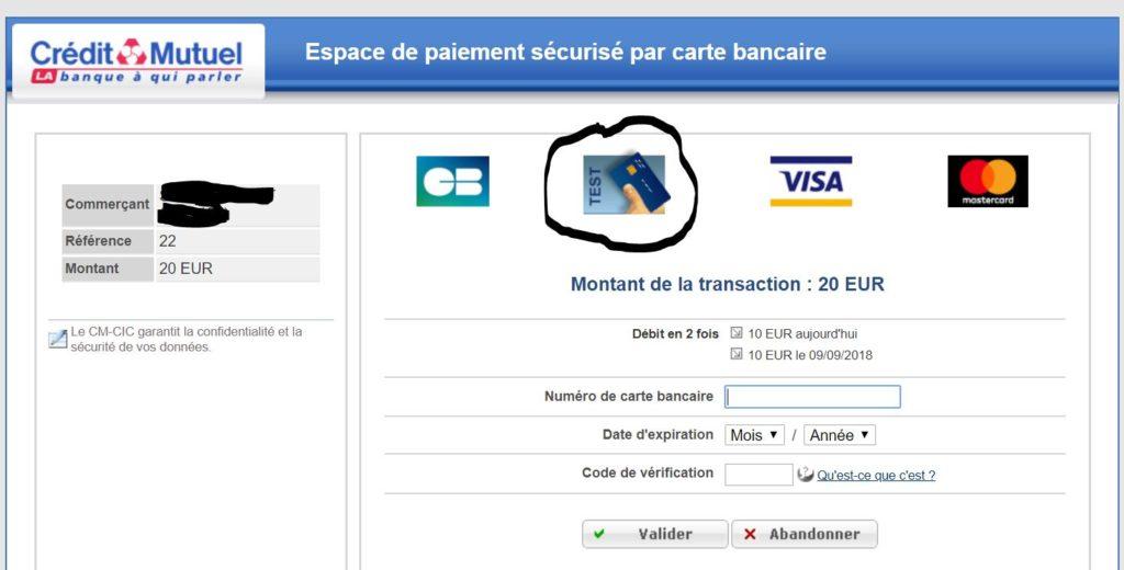 Carte Bleue Test.Configurer Un Module De Paiement Cm Cic Sur Prestashop