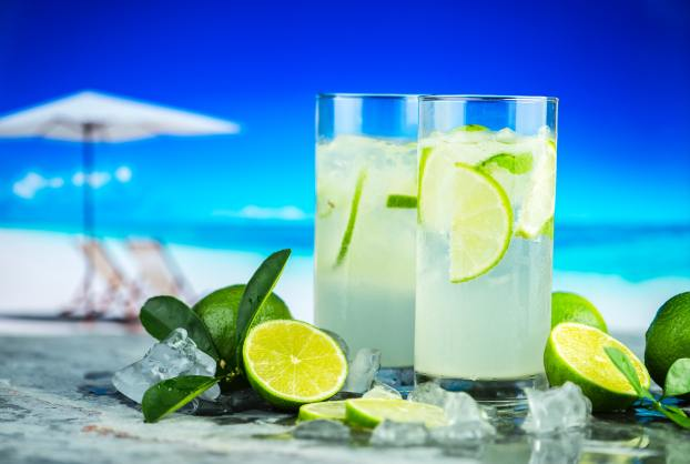 Gin Fizz à la plage