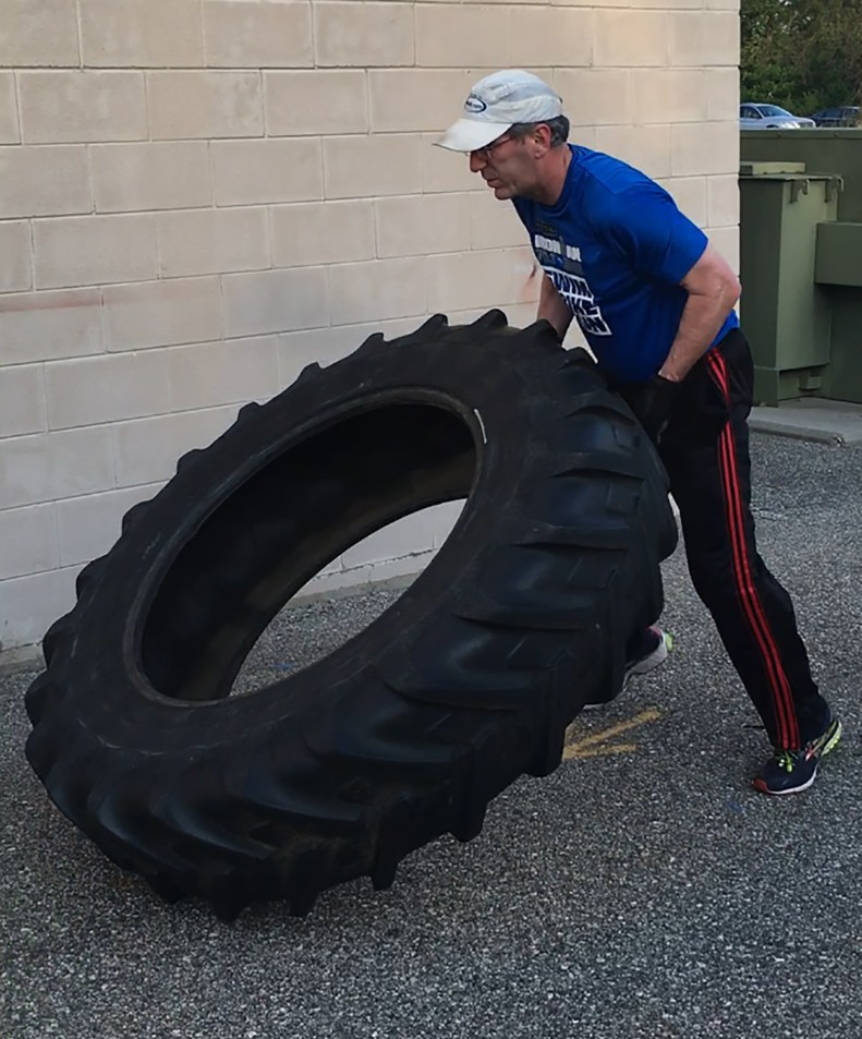 TeamAgar-Jeff with tractor tire working out