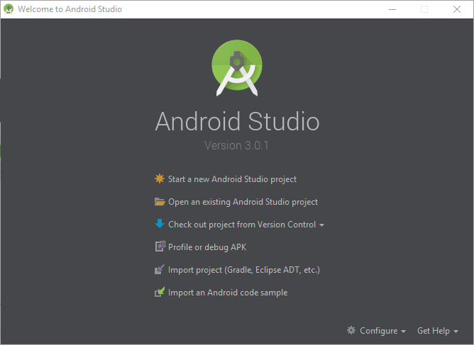 Install Android Studio 3.0.1
