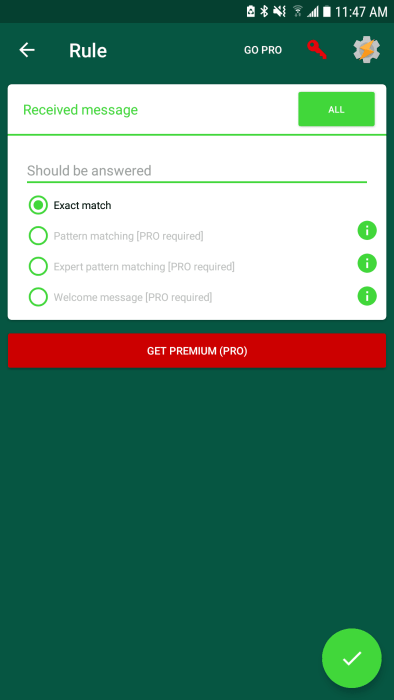 AutoResponder for WhatsApp, Auto Responses