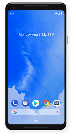Android 9 Pie wallpaper on Pixel 2 XL