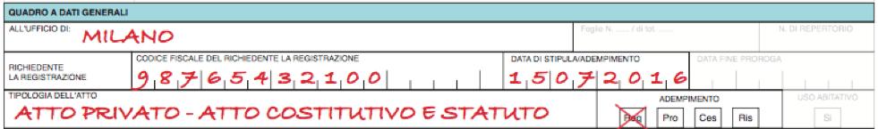 Modello 69 Come Si Compila Per Registrare Statuto Associazione