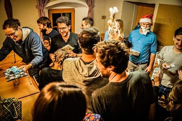 Wichteln bei teamazing Weihnachtsfeier