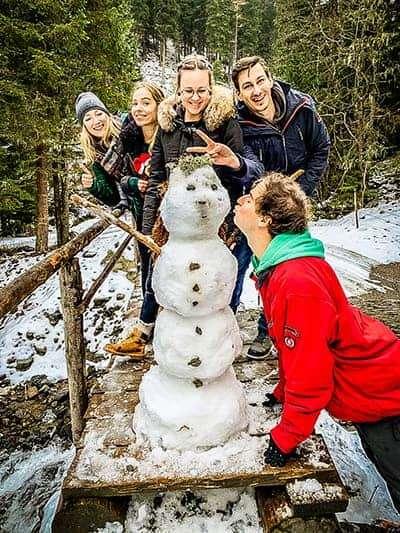 Schneemann bei teamazing Weihnachtsfeier 2018
