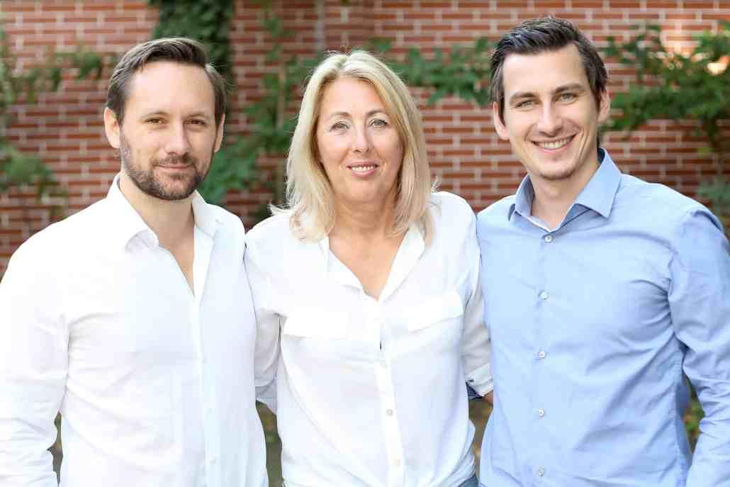 Von Links: Christoph Hütter von Invitario, Andrea Kernreiter von Seminargo und Paul Stanzenberger von teamazing © Katharina Schiffl