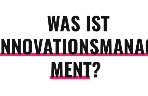 Was ist Innovationsmanagement?