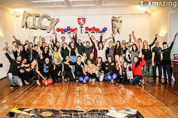 Teamfoto beim Teambuilding Event für Calzedonia