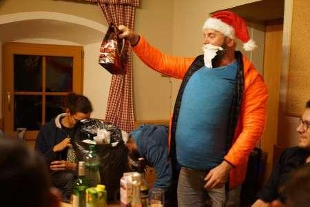 Santa Flo als Weihnachtsmann