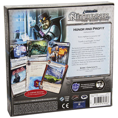 Android Netrunner – Honor and Profit – Back