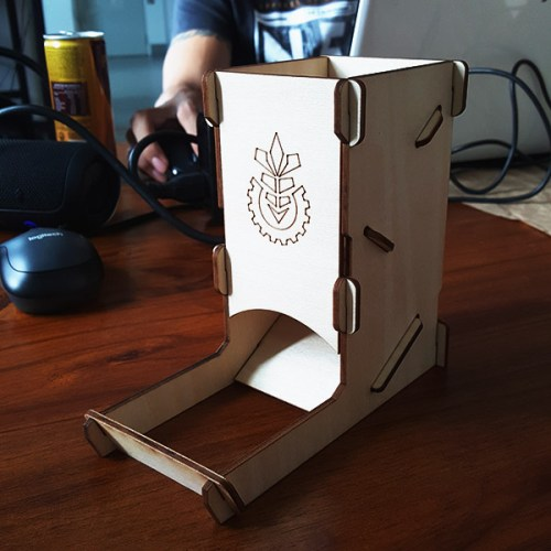 Wooden Dice Tower Cover 2