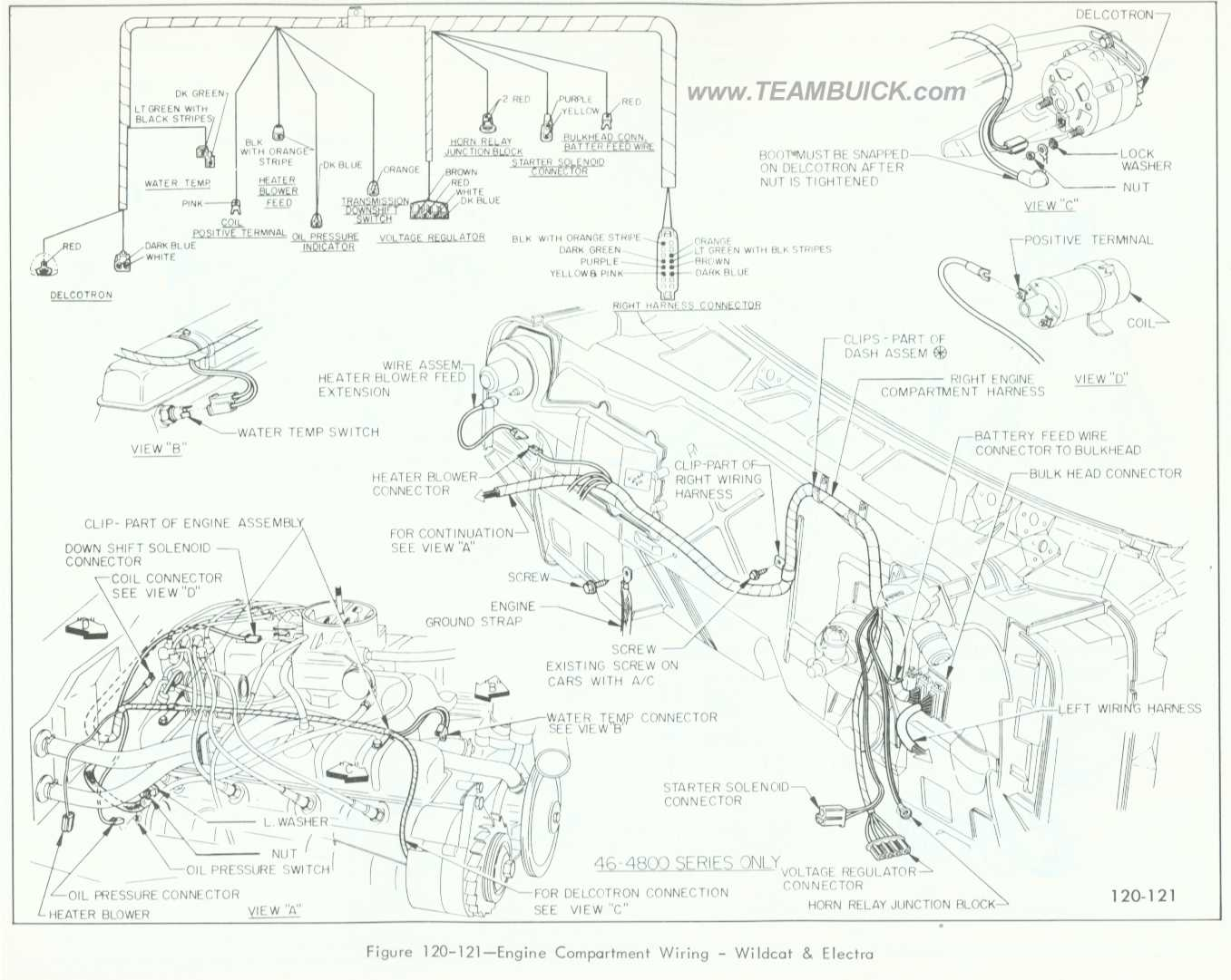 Buick Wildcat Electra Engine Compartment Wiring