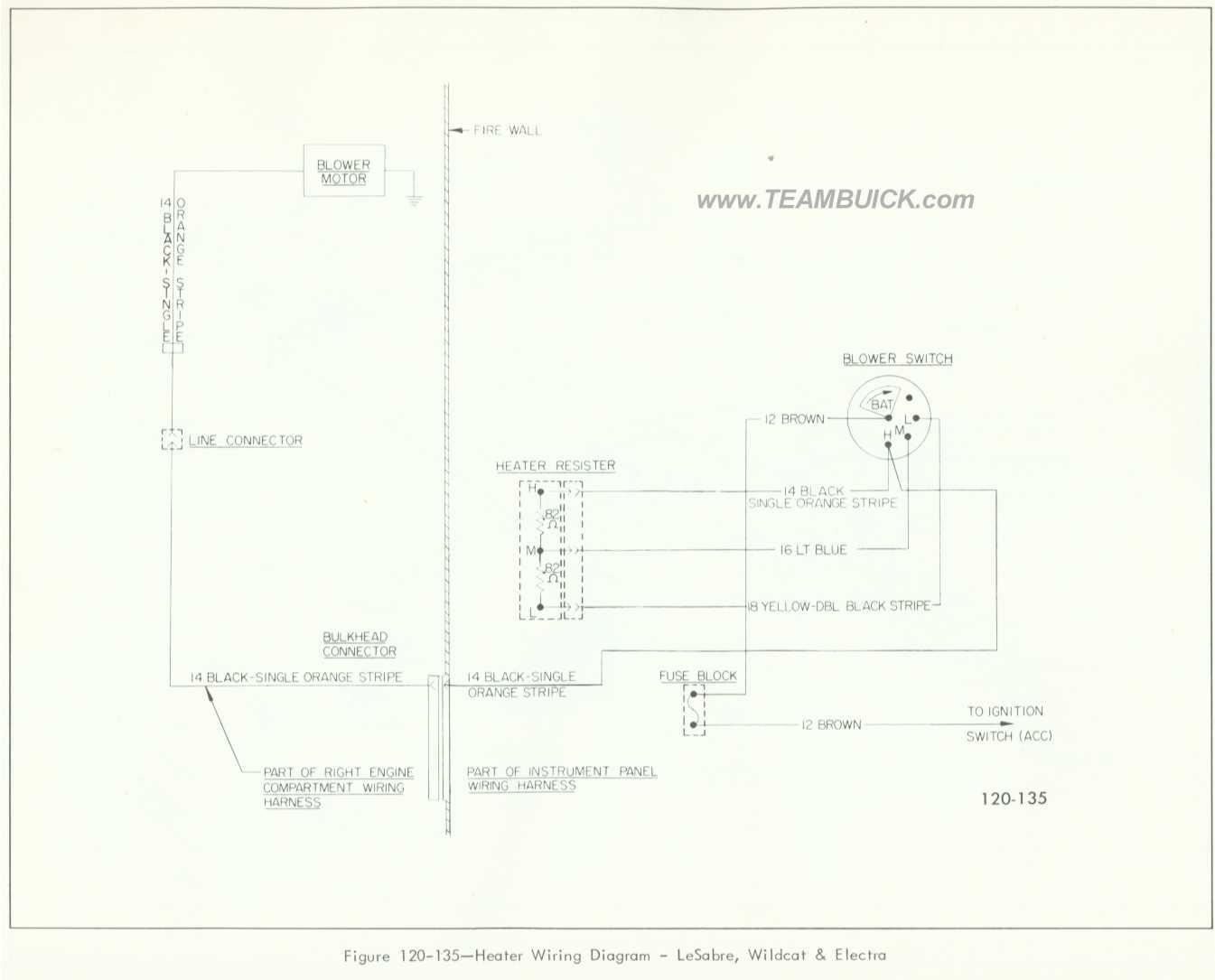 Buick Lesabre Wildcat Electra Heater Wiring Diagram
