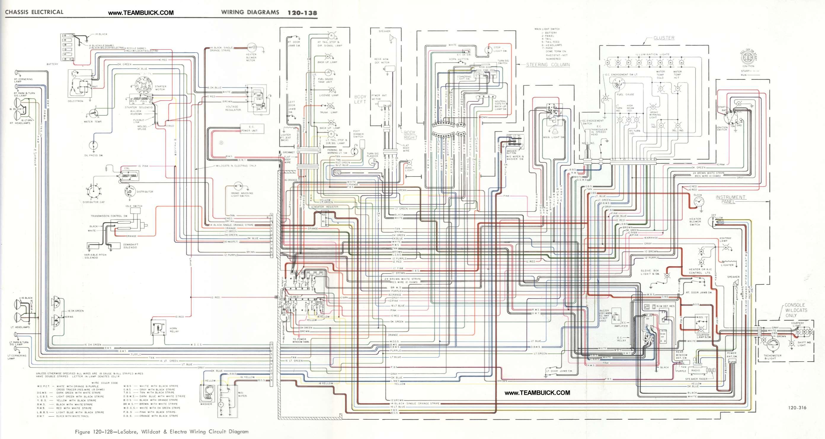 Buick Lesabre Wildcat Electra Wiring Diagram