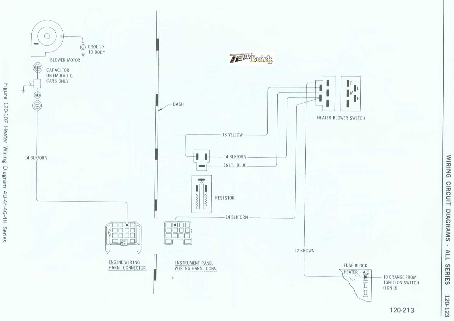 Buick Heater Wiring Diagram 4d 4f 4g 4h Series