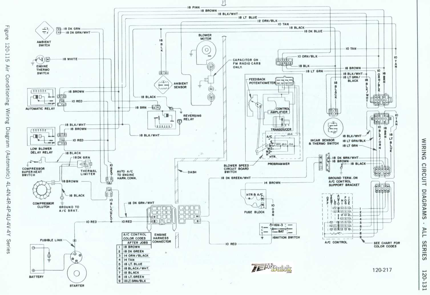 Buick Air Conditioner Wiring Diagram Automatic 4l