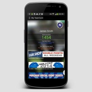 TeamCard mobile app summary