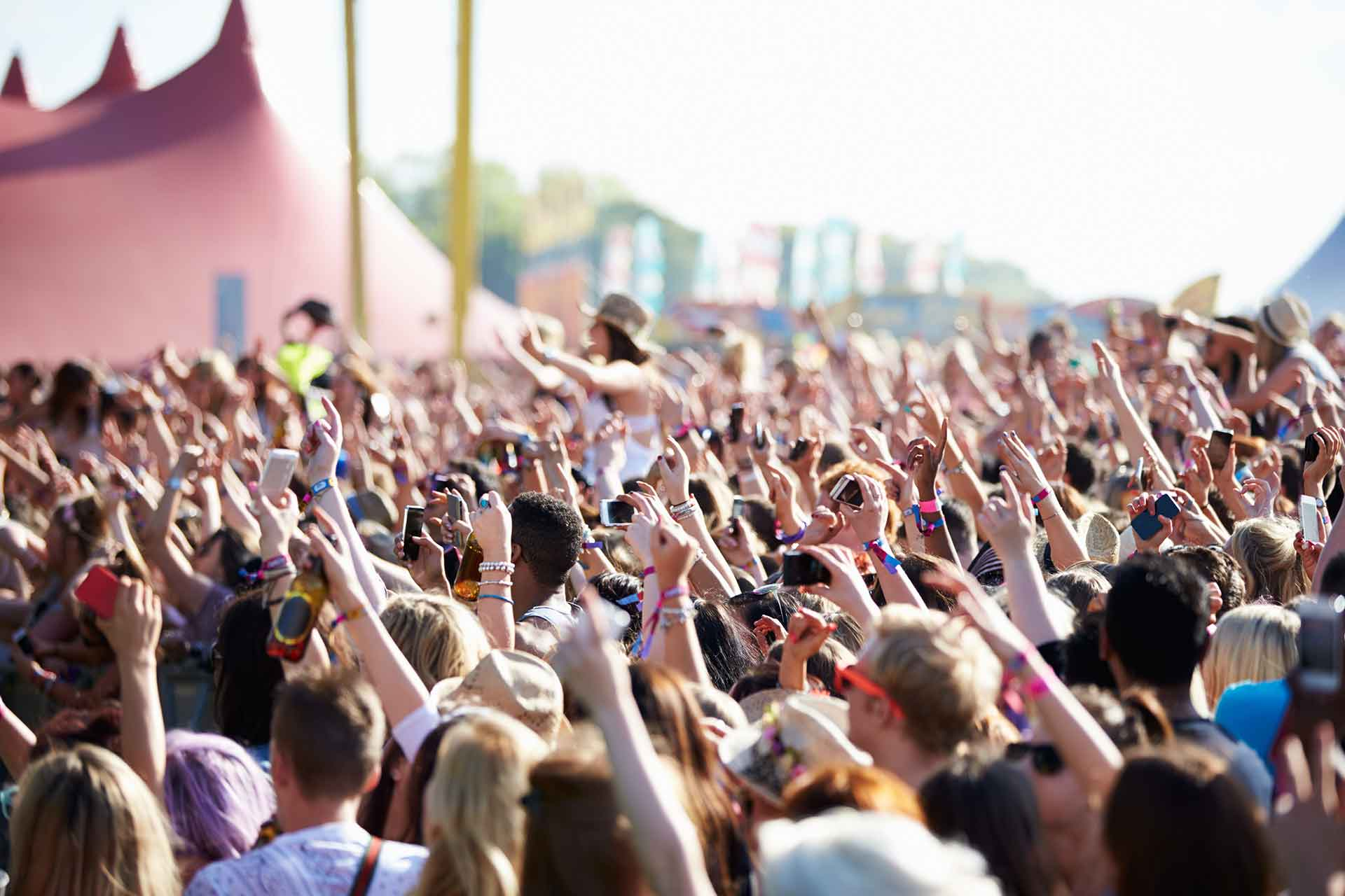 Crowd at a music festival