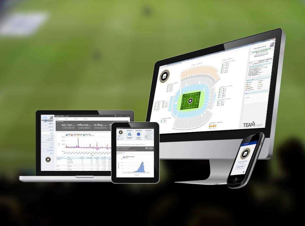 TeamCard software screens
